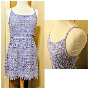 Gorgeous Lavender Divided crochet dress